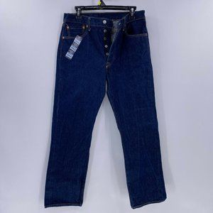 Levi's 501 button fly jeans shrink to fit 34x32